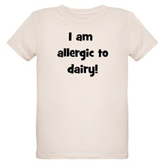 Allergic to Dairy - Black T-Shirt