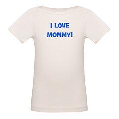 I Love Mommy (blue) Tee