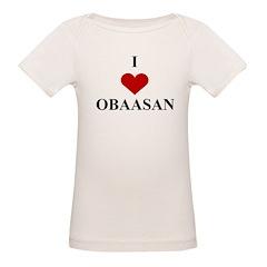 I Love (heart) Obaasan Organic Baby T-Shirt