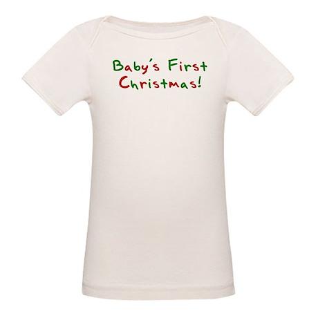 Baby's First Christmas Organic Baby T-Shirt