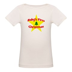 Baby's First Christmas star Tee