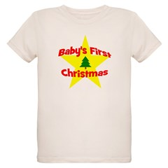 Baby's First Christmas star T-Shirt