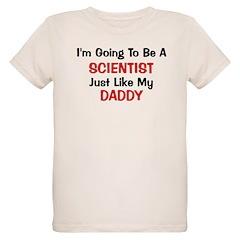 Scientist Daddy Profession Organic Kids T-Shirt