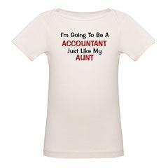Accountant Aunt Profession Organic Baby T-Shirt