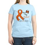 Leukemia Ribbon Husband Women's Light T-Shirt