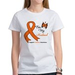 Leukemia Ribbon Husband Women's T-Shirt