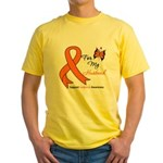 Leukemia Ribbon Husband Yellow T-Shirt