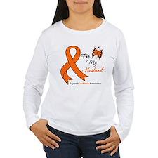 Leukemia Ribbon Husband T-Shirt