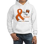 Leukemia Ribbon Husband Hooded Sweatshirt