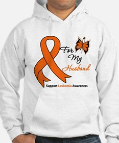 Leukemia Ribbon Husband Hoodie Sweatshirt