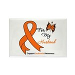 Leukemia Ribbon Husband Rectangle Magnet (100 pack
