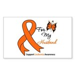 Leukemia Ribbon Husband Rectangle Sticker