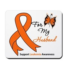 Leukemia Ribbon Husband Mousepad