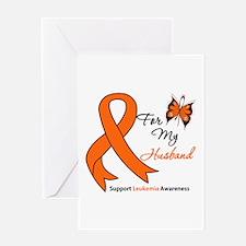 Leukemia Ribbon Husband Greeting Card