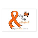 Leukemia Ribbon Husband Postcards (Package of 8)