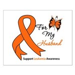 Leukemia Ribbon Husband Small Poster