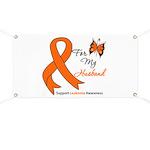 Leukemia Ribbon Husband Banner