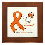Leukemia Ribbon Husband Framed Tile