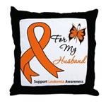 Leukemia Ribbon Husband Throw Pillow