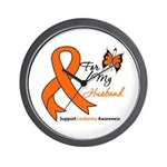 Leukemia Ribbon Husband Wall Clock