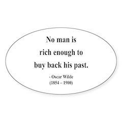 Oscar Wilde 20 Oval Decal