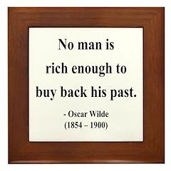 Oscar Wilde 20 Framed Tile