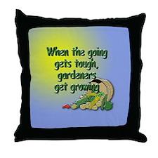 Get Growing Throw Pillow