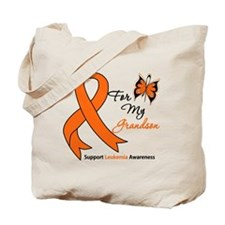 Leukemia Ribbon Grandson Tote Bag