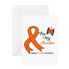 Leukemia Ribbon Grandson Greeting Card