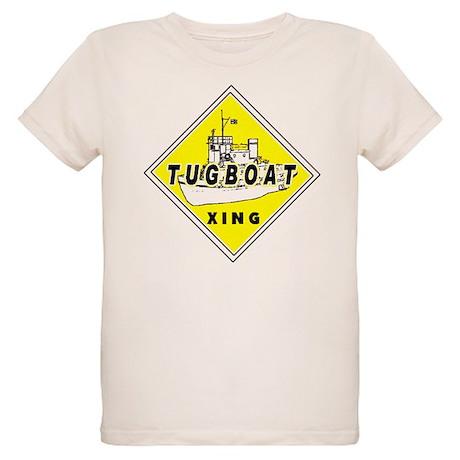Tugboat Xing sign Organic Kids T-Shirt
