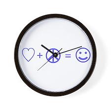Love, Peace, Happiness Math Wall Clock
