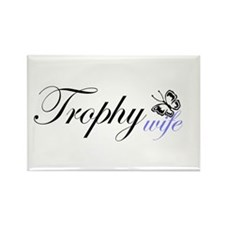 Butterfly Trophy Wife Rectangle Magnet (10 pack)