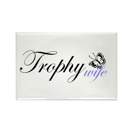 Butterfly Trophy Wife Rectangle Magnet