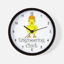 Engineering Chick Wall Clock