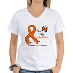 Leukemia Ribbon Grandma Women's V-Neck T-Shirt