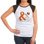Leukemia Ribbon Grandma Women's Cap Sleeve T-Shirt