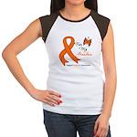 Leukemia Ribbon Grandma Women's Cap Sleeve T-Shirt