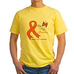 Leukemia Ribbon Grandma Yellow T-Shirt