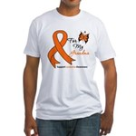 Leukemia Ribbon Grandma Fitted T-Shirt