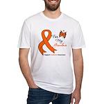 Leukemia Ribbon Grandma Fitted T-Shirt