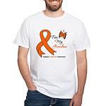 Leukemia Ribbon Grandma White T-Shirt