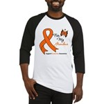 Leukemia Ribbon Grandma Baseball Jersey