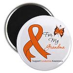 Leukemia Ribbon Grandma Magnet