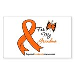 Leukemia Ribbon Grandma Rectangle Sticker 10 pk)