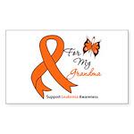 Leukemia Ribbon Grandma Rectangle Sticker 50 pk)