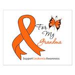 Leukemia Ribbon Grandma Small Poster