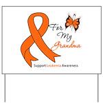 Leukemia Ribbon Grandma Yard Sign