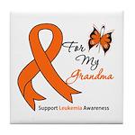 Leukemia Ribbon Grandma Tile Coaster