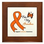 Leukemia Ribbon Grandma Framed Tile