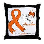 Leukemia Ribbon Grandma Throw Pillow